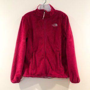 The North Face Hot Pink Fuzzy Full Zip Jacket M